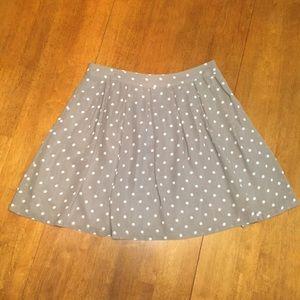 H&M Grey w/White Polka Dot Skirt
